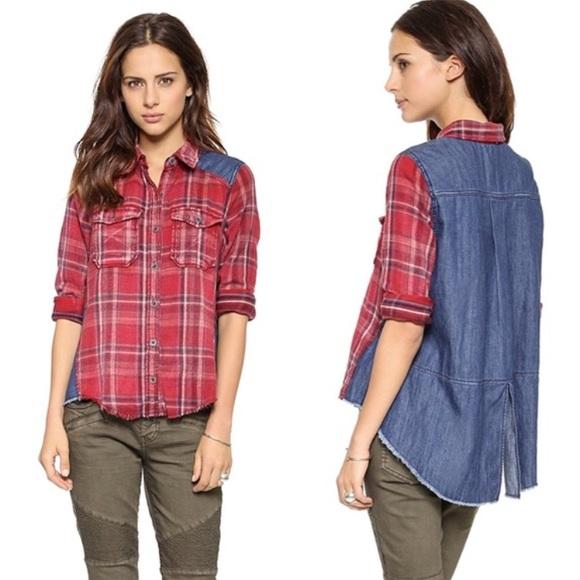 Free People Tops - 🔅SALE🔅 Free People Roadtrip Flannel Plaid Top